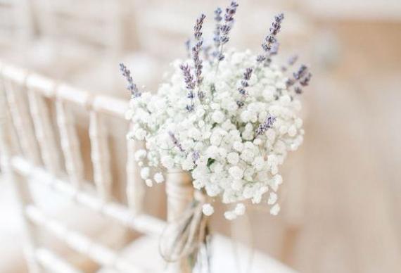 лаванда для резервирования мест на свадебном торжестве