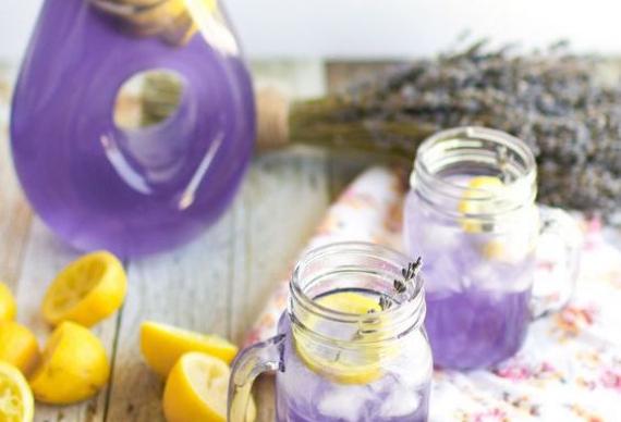 лавандовый лимонад для свадебной церемонии