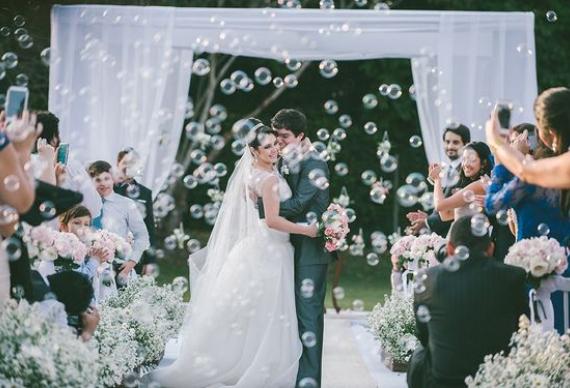 мыльные пузыри для свадебной церемонии