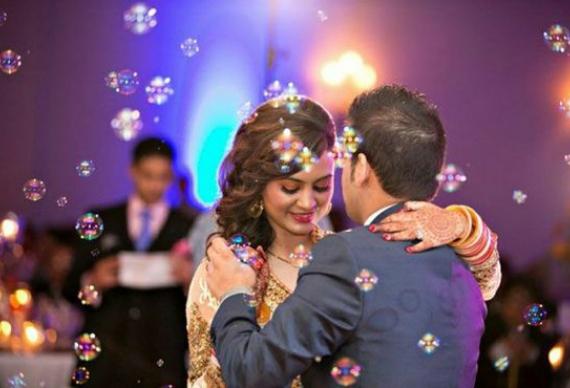 мыльные пузыри для танца жениха и невесты