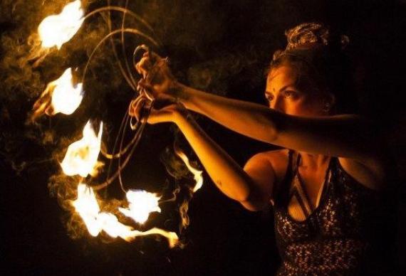 свадебное огненное шоу