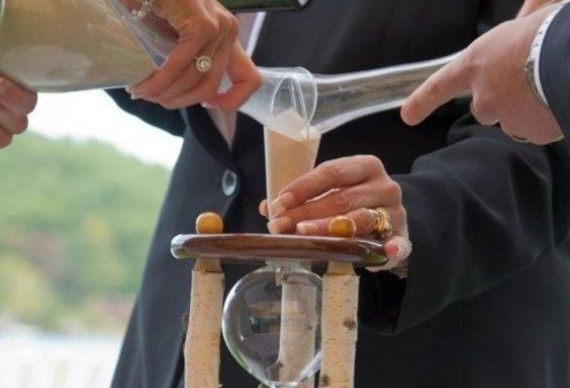 песочные часы свадебная церемония