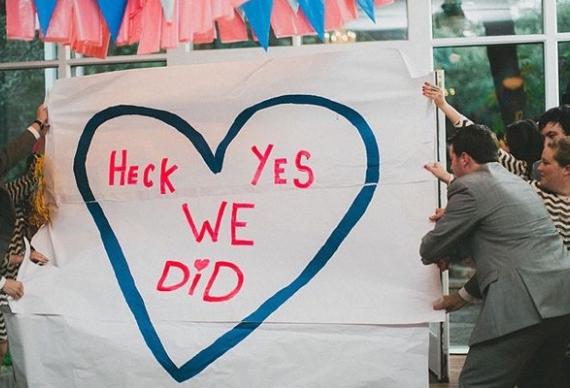 плакат для свадебной церемонии