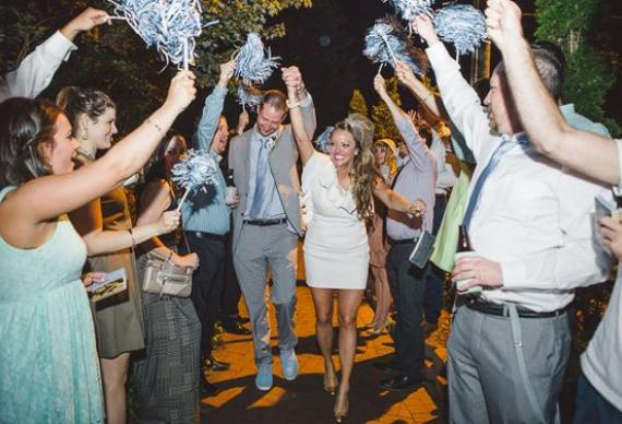 помпоны черлидеров для свадебной церемонии