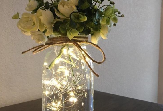 гирлянда для украшения вазы с цветами