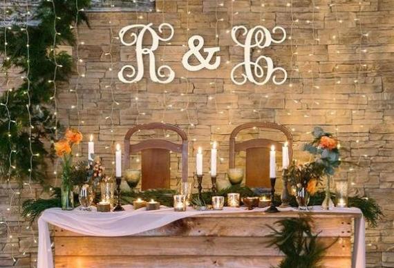 ретро гирлянда для декора свадьбы