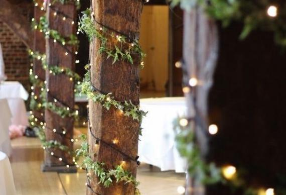 гирлянда для декора свадебного зала