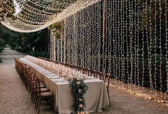 ретро гирлянды на свадьбу