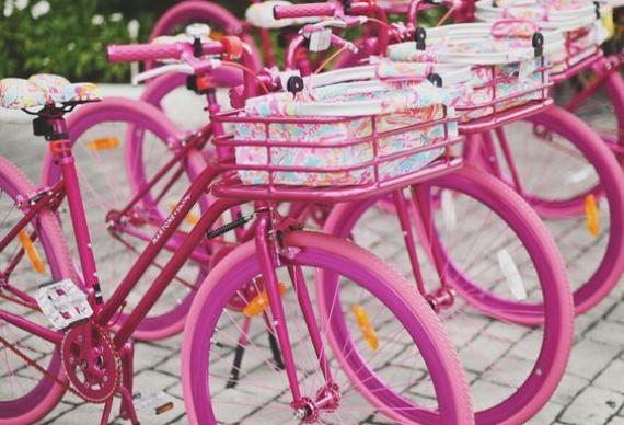 розовые велосипеды для девичника
