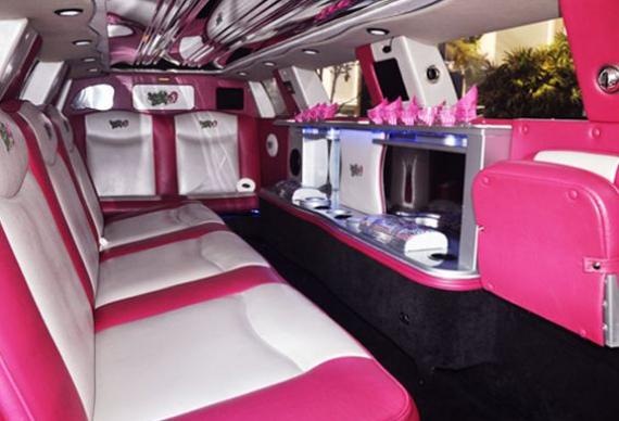 розовый лимузин для девичника