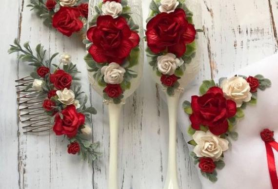 декор для рубиновой свадьбы