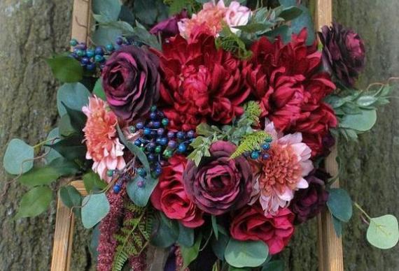 букет на рубиновую свадьбу