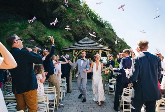 свадебные самолетики
