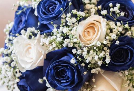 букет на сапфировую свадьбу