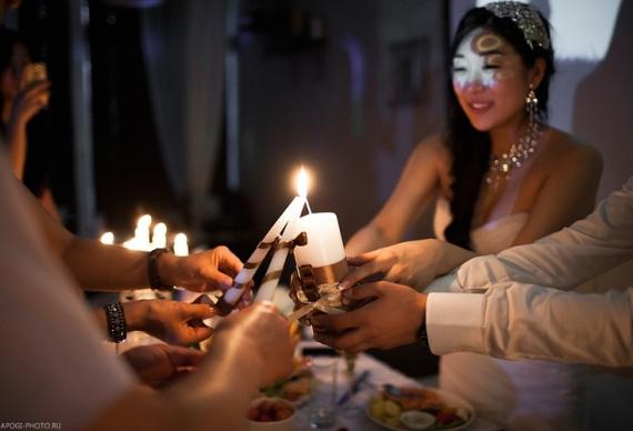 семейный очаг зажжение свечей