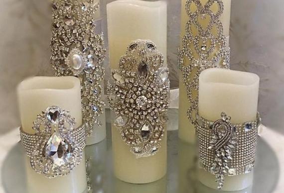 серебряные украшения для свеч