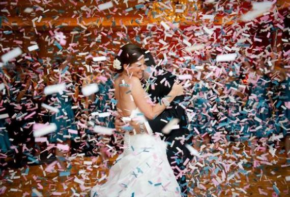 серпантин для свадебного фото