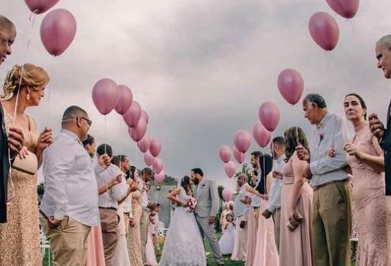 воздушные шары для свадебной церемонии