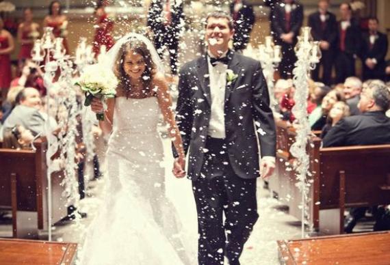 снег для свадебной церемонии