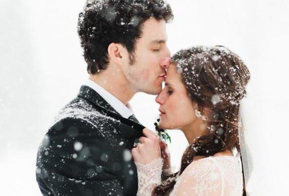 снег для свадебного фото