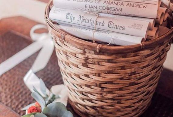 газета для свадебного декора