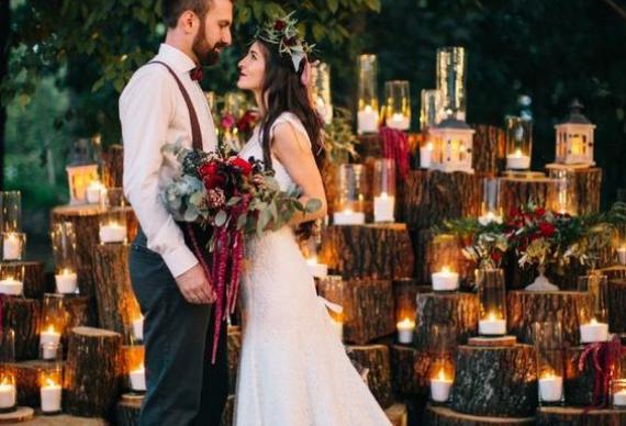 свечи для завершения свадебного вечера