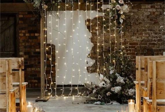 светодиодная гирлянда на свадьбу