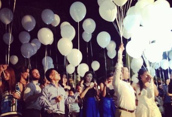 свадебные светящиеся шарики