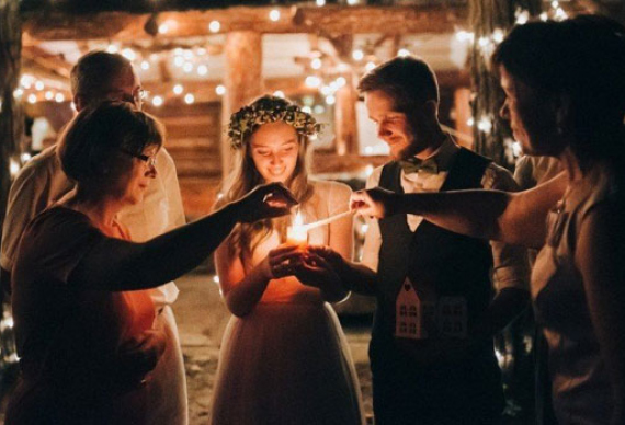 танец в огне на свадьбе