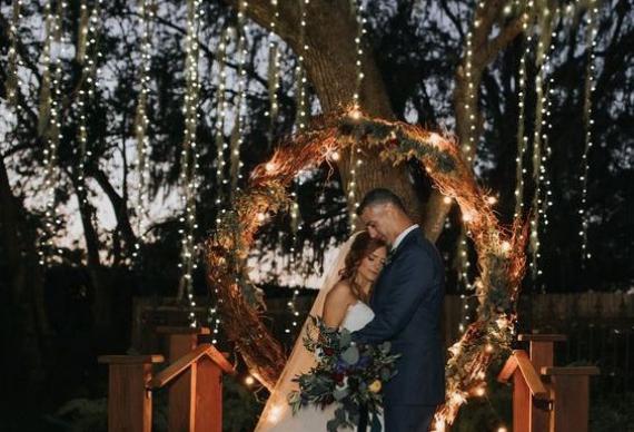 занавес из светодиода для свадебного фото