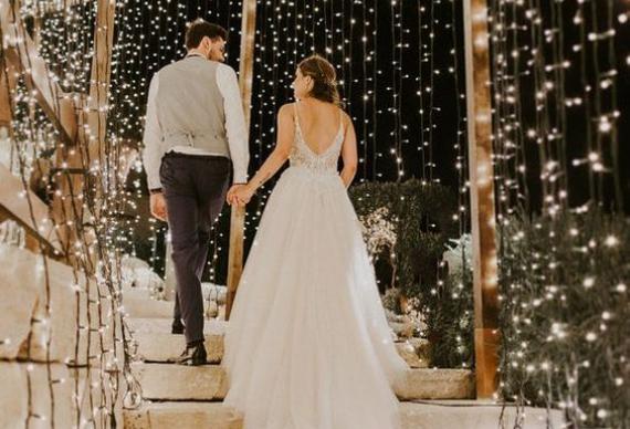 занавес из светодиода для свадебной фотосессии