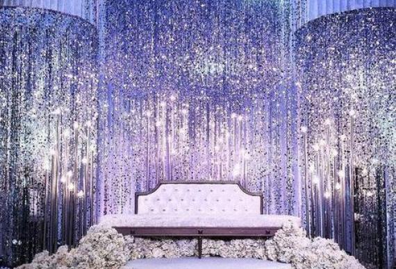 занавес из мелкого светодиода на свадьбу