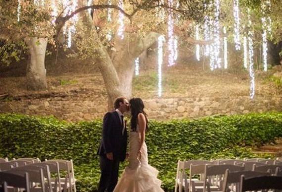 занавес из светодиода на свадьбе