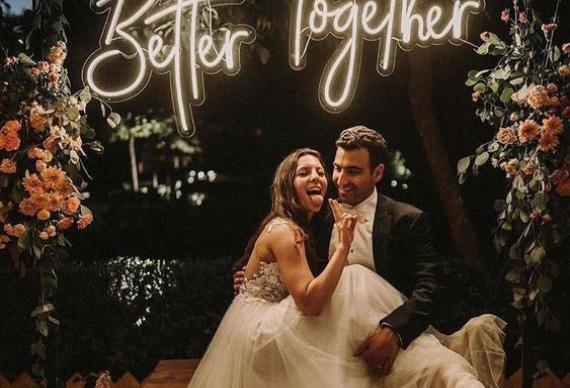 завершение свадьбы фотозона