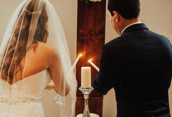 свадебная церемония зажжение свечей