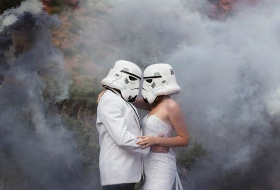 свадебная церемония в стиле звездные войны
