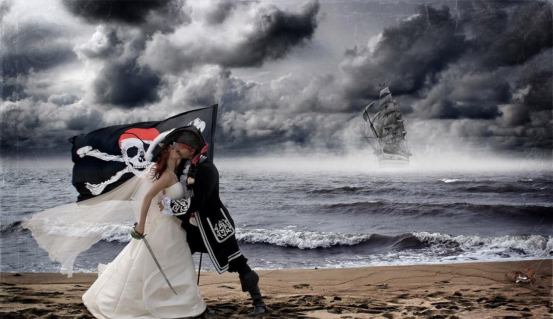 свадьба в пиратском стиле, как организовать свадьбу в пиратском стиле, свадьба