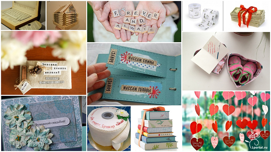 Подарки из бумаги на бумажную свадьбу