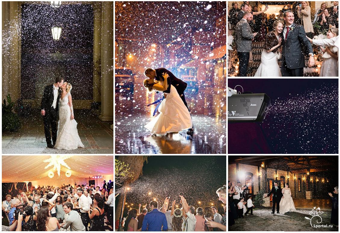 Оформление зимней свадьбы, Свадебный портал №1