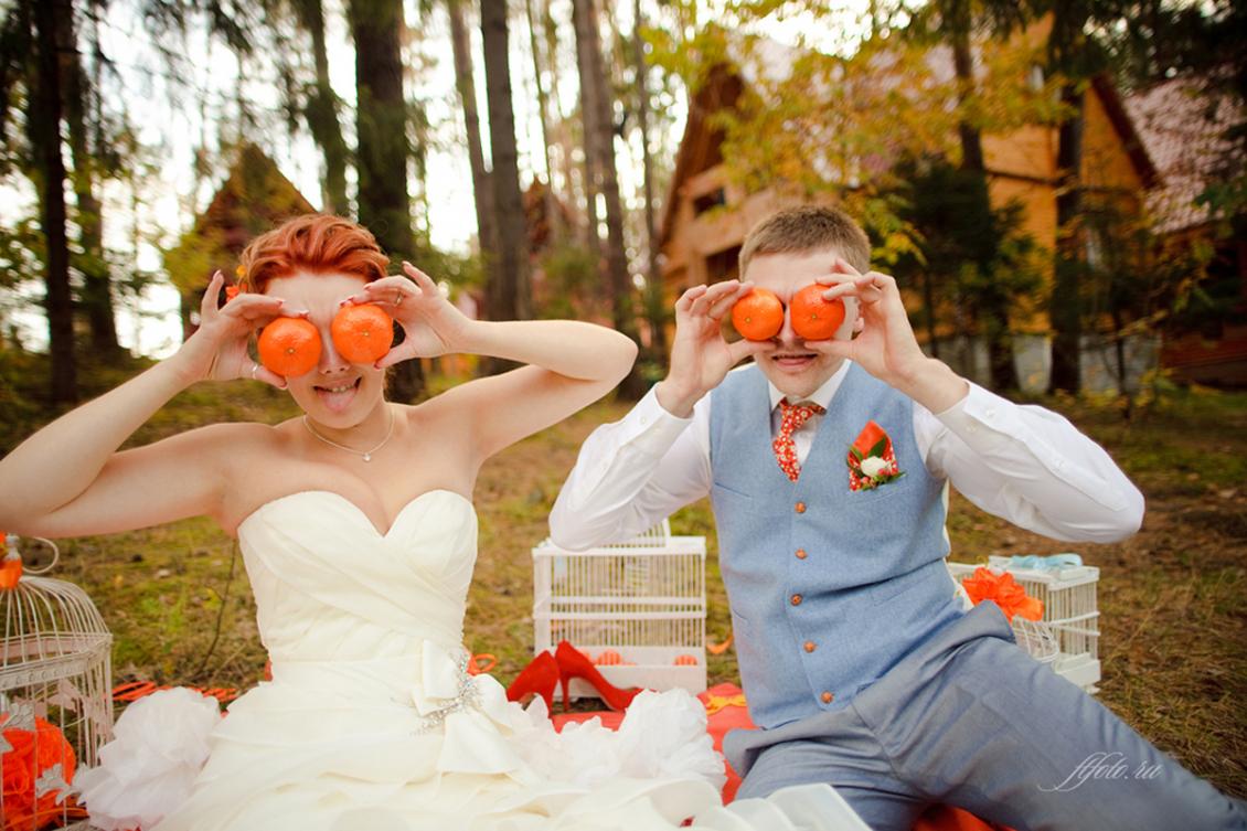 Оранжевая и апельсиновая свадьба