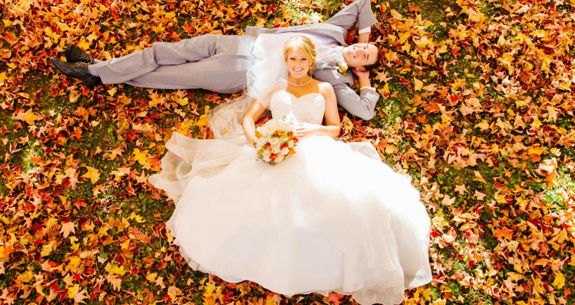 Свадьбы осенью фото