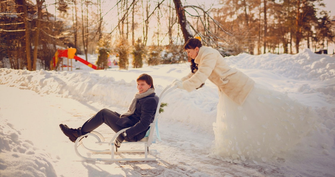 Свадьба зимой идеи проведения фото